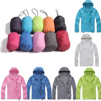 Waterproof Windproof Jackets Mens Womens Oversized Lightweight Rain Coat Outdoor