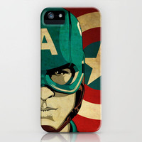 Captain America iPhone Case by Jeff Nichol Art | Society6