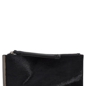 Street Level Genuine Calf Hair Clutch