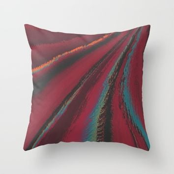 Cozy Sweater - glitch- Throw Pillow by DuckyB