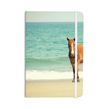 "Robin Dickinson ""Wild Mustang of Carova"" Horse Ocean Everything Notebook"
