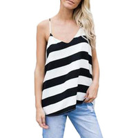 Casual Striped  Tank Tops   Strap Vest T Shirts Female Camis Loose Sleeveless Tank Top For Women #416 BL