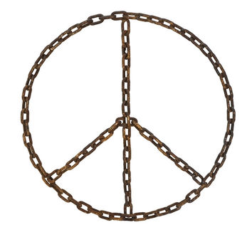 Peace Sign Chain Wall Decor
