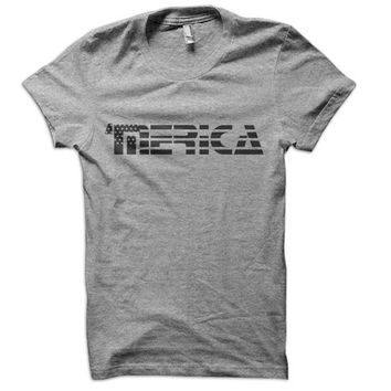 Merica Ladies T-Shirt - usa t shirt love america 4th of july tshirt fourth tee united states