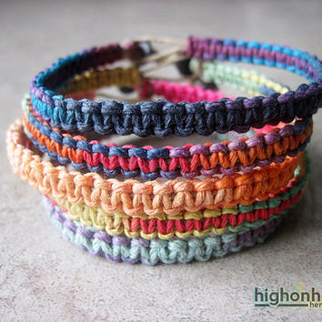 Multicolor Hemp Bracelet Set