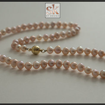 Wildly Affordable Classic Elegance - Knotted Fresh Water Pearl Necklaces (#5000-03)