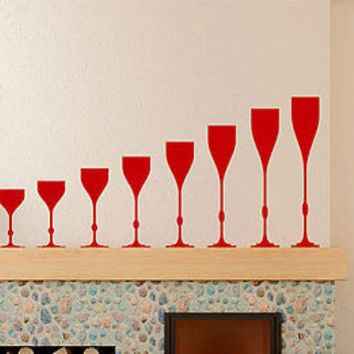 Kitchen Decoration Wine Glasses Sticker Decal Home Decor Vinyl Sticker tr767