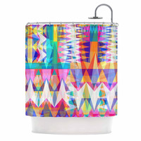 "Miranda Mol ""Triangle Collage"" Pastel Geometric Shower Curtain"
