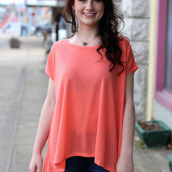 Touch of Lace Tee {Apricot}
