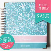 Planner 2016/2017 - Weekly Planner - 2016 Diary - Large Planner - Gift for friend - Student Planner - 2017 Diary - Monthly Planner