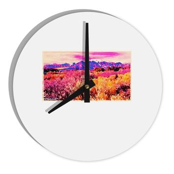 """Colorful Colorado Mountains 8"""" Round Wall Clock  by TooLoud"""