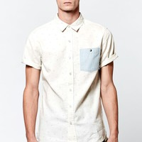 Modern Amusement Paper Planes Button Up Pocket Shirt - Mens Shirt - Brown