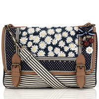 Daisy Stripe Across Body Bag | Blue | Accessorize