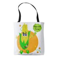 Cute monster corn illustration tote bag