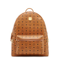 Large Stark Studded Backpack in Cognac by MCM