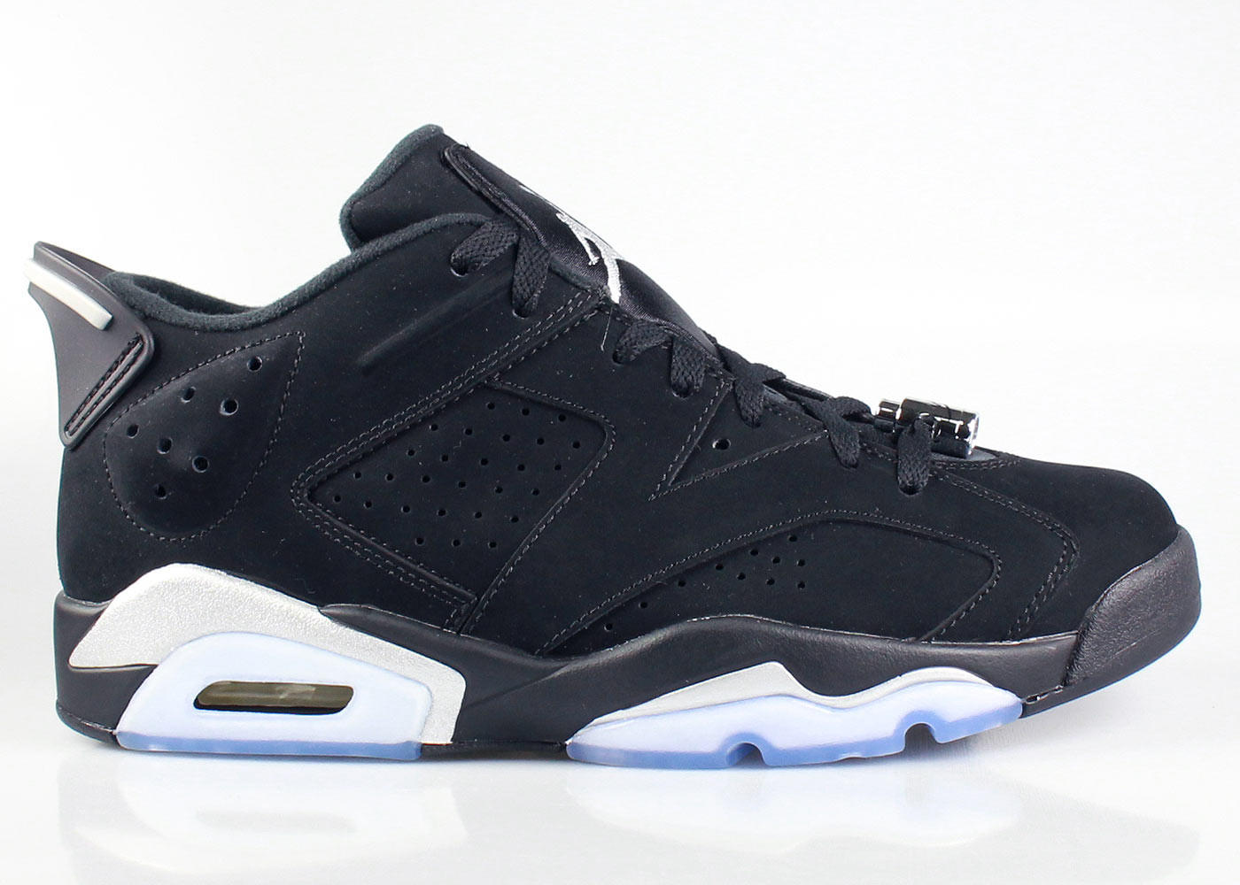 Air Jordan 6 VI Low Men\\u0026#39;s Retro Black Metallic Silver