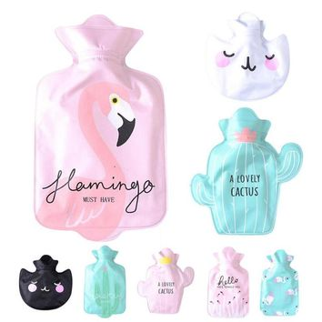 Hot Water Bottle/ Bag Perfect For Winter (Flamingo, Cactus)