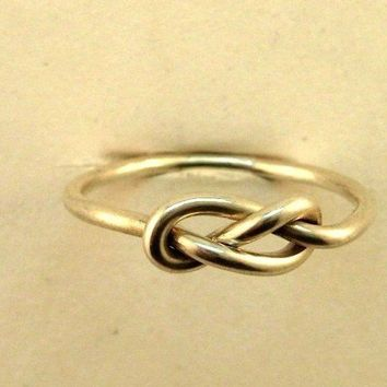 Infinity Ring Sterling Silver  Love Knot Ring by Esteverde on Etsy