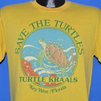 80s Save The Turtles Key West Florida t-shirt Medium