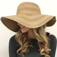 Floppy Stripe Beach Hat