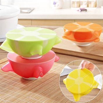 Fruit Shape Stretchy Bowl Cover Silicone Suction Lid-bowl Cooking Pot Stretch Silicone Lid Dishware Suction Covers & Bowl Lid