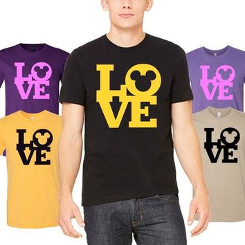 Mickey mouse Love T-Shirt - Popular Tee - Magic Kingdom - Mickey's T-Shirt, Perfect for the a trip to Disneyland or Disney World, cute tee