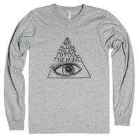 Do Not Allow the Eye to Fool the Mind-Unisex Heather Grey T-Shirt