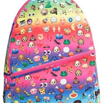 Girl's Zara Terez 'Emoji' Neoprene Backpack - Pink