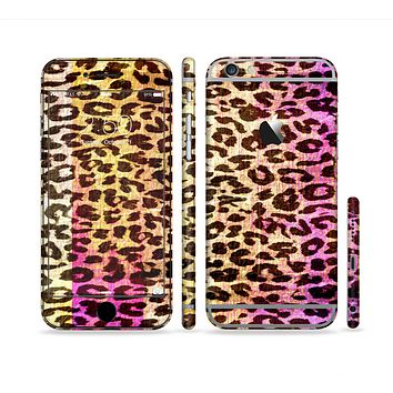 The Vibrant Striped Cheetah Animal Print Sectioned Skin Series for the Apple iPhone 6s