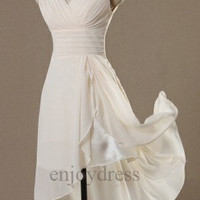 Custom Ivory Short Bridesmaid Dresses 2014 Simple Prom Dresses Cheap Evening Gowns Wedding Party Dress Cheap Party Dress Homecoming Dresses