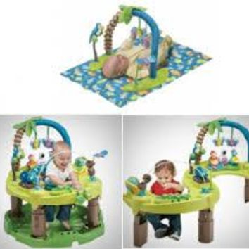 Evenflo Baby Exersaucer Jumperoo Triple Fun 3-in-1 Educational Developmental Activity Learning Center