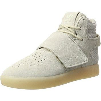 Adidas Originals Tubular Invader Strap C Clear Brown Leather Junior Trainers