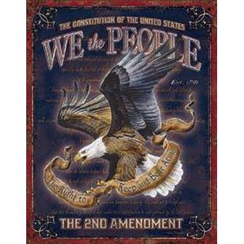 Tin Sign We The People - 2nd Amendment