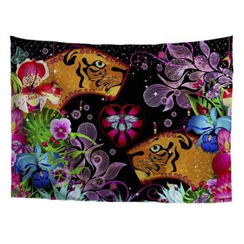 Colorful Floral Tapestry