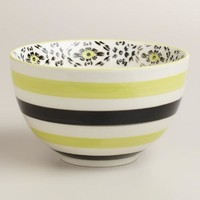 Green Stripe Holland Park Bowls, Set of 4