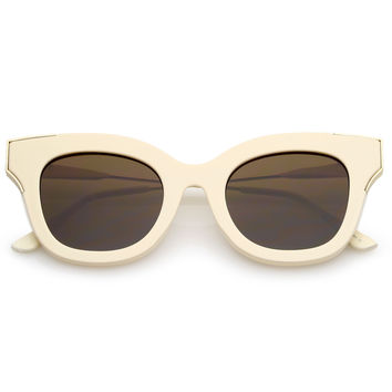 Women's Oversize Flat Frame Cat Eye Sunglasses C071