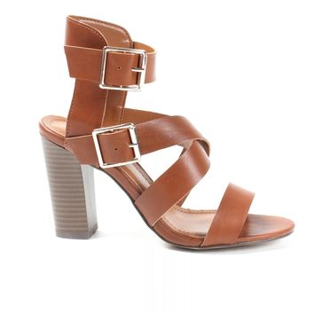 High Back Buckle Heels