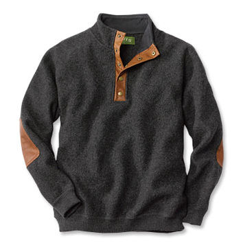 Wool Pullover Sweater / Boiled-Wool Snap-Front Pullover -- Orvis