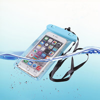 For iphone 6s 6 soft clear PVC Waterproof phone pouch case for LG G5 G4 G3 underwater bags pocket for Huawei Ascend P9 lite P8