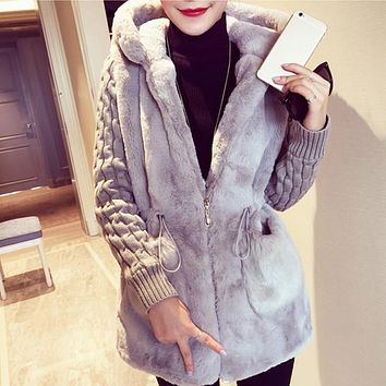 Winter Warm Overcoat Big Fur Collar Hood Clothing  Jacket With Hat Trendy Women Warm Outerwear Coat Stylish Autumn