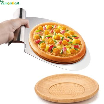 32X26 Stainless Steel Cake PizzaTransfer Cake Shovel Baking Tools Cake Tray Moving Plate Bread Pizza Shovel Cutting Tool