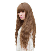 Cosplay Party New Fashion Women Lady Long Curly Wavy Hair Full Wigs
