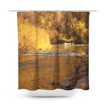 Rustic Fall Shower Curtain