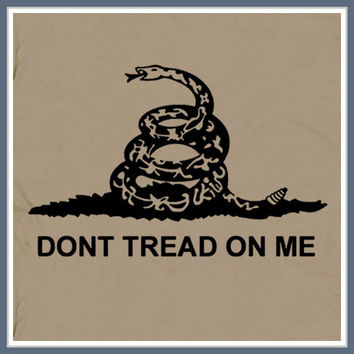 Don't Tread On Me T Shirt Tea Bag Party Flag USMC by Shirtmandude