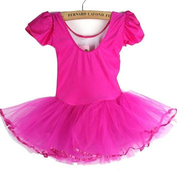 Girls Kids Baby Candy Color Tutu Dress Dance Costumes Ballet Dancewear 3-7Y