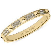 Michael Kors Crystal Pavé and Pyramid Stud Hinge Bangle Bracelet