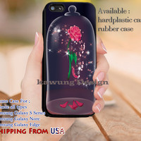 Rose in the Glass Beauty and The Beast iPhone 6s 6 6s+ 5c 5s Cases Samsung Galaxy s5 s6 Edge+ NOTE 5 4 3 #cartoon #disney #animated #BeautyAndTheBeast dl10