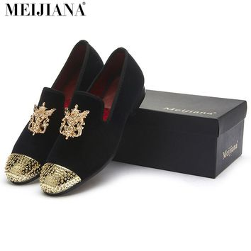 MEIJIANA Men's Luxury Velvet Leather Loafers Shoes