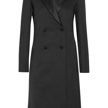 The Row - Robeska silk-trimmed wool-blend coat
