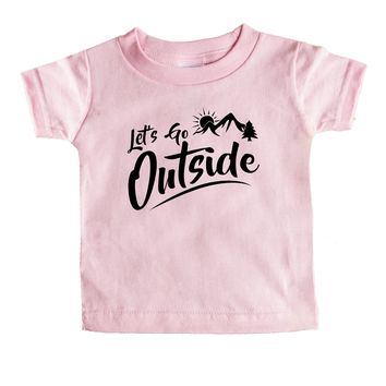 Let's Go Outside Baby Tee